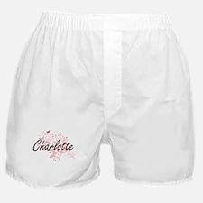 Charlotte North Carolina City Artisti Boxer Shorts