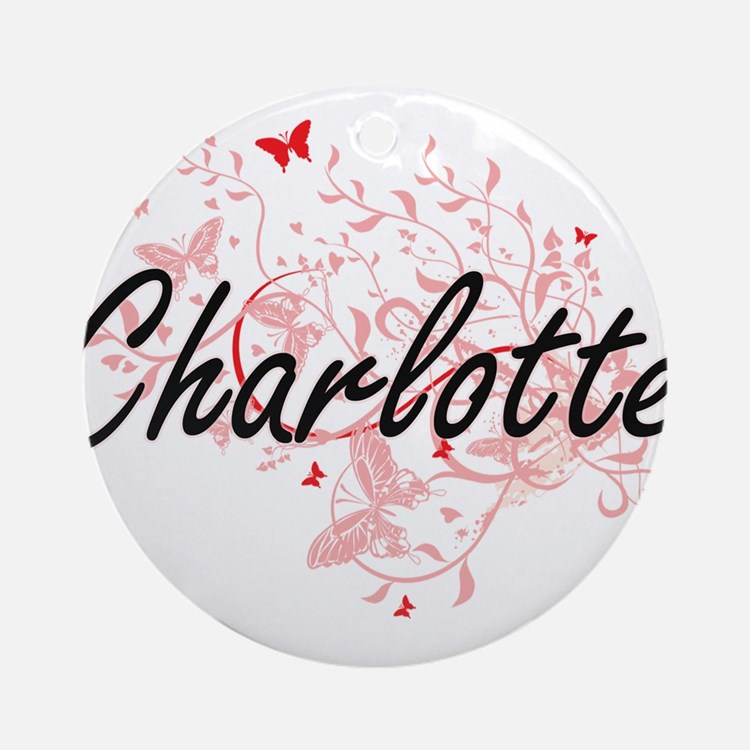 Charlotte North Carolina City Artis Round Ornament