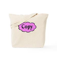 Copy Pink Funny Tote Bag