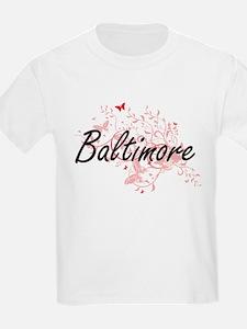 Baltimore Maryland City Artistic design wi T-Shirt