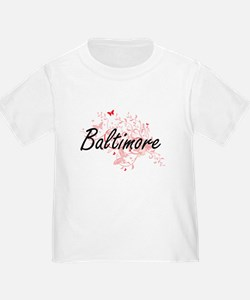 Baltimore Maryland City Artistic design wi T-Shirt