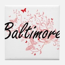 Baltimore Maryland City Artistic desi Tile Coaster