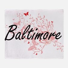 Baltimore Maryland City Artistic des Throw Blanket