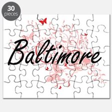 Baltimore Maryland City Artistic design wit Puzzle