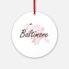 Baltimore Maryland City Artistic de Round Ornament