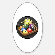 Unique Billard Sticker (Oval)