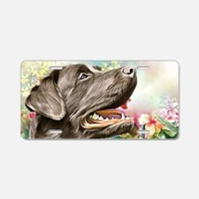 Labrador Painting Aluminum License Plate
