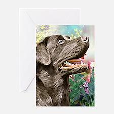 Labrador Painting Greeting Cards