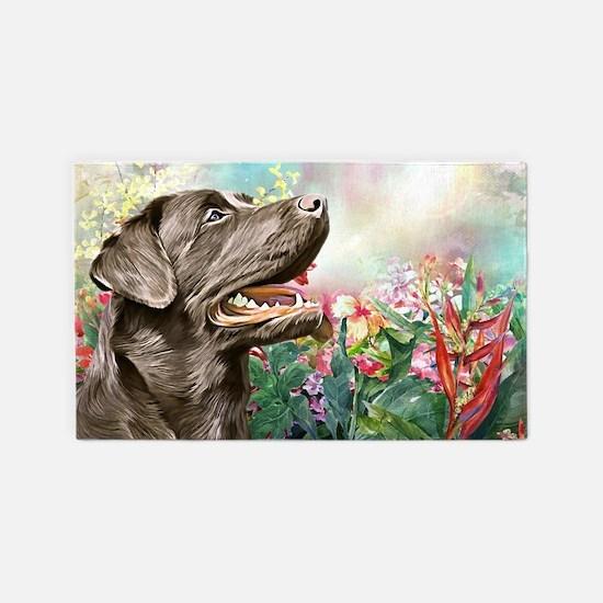 Labrador Painting Area Rug