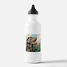 Labrador Painting Water Bottle