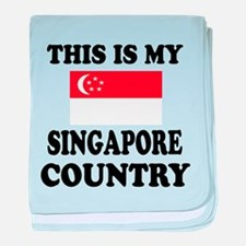 This Is My Singapore Country baby blanket