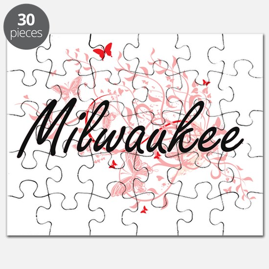 Milwaukee Wisconsin City Artistic design wi Puzzle