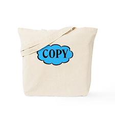 Copy Blue Funny Tote Bag