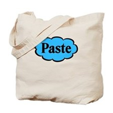 Paste Blue Funny Tote Bag