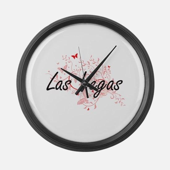 Las Vegas Nevada City Artistic de Large Wall Clock