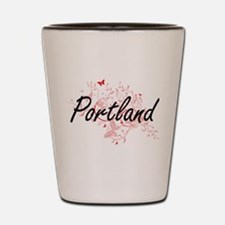 Portland Oregon City Artistic design wi Shot Glass