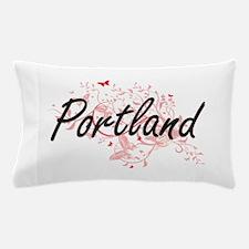 Portland Oregon City Artistic design w Pillow Case