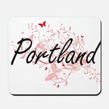 Portland Oregon City Artistic design wit Mousepad