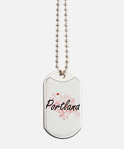 Portland Oregon City Artistic design with Dog Tags