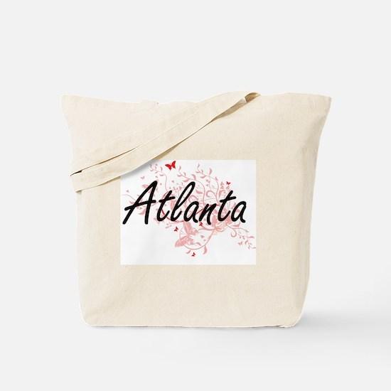 Atlanta Georgia City Artistic design with Tote Bag