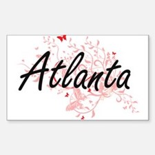 Atlanta Georgia City Artistic design with Decal