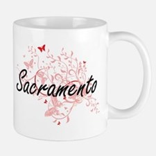 Sacramento California City Artistic design wi Mugs