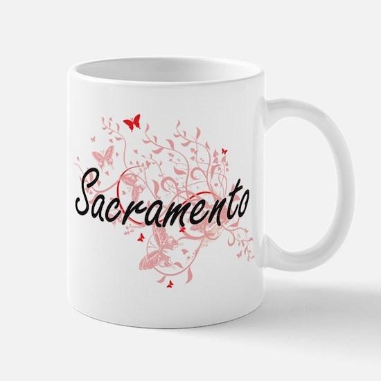 Sacramento California City Artistic design wi Mugs