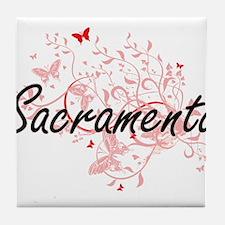 Sacramento California City Artistic d Tile Coaster