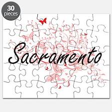 Sacramento California City Artistic design Puzzle