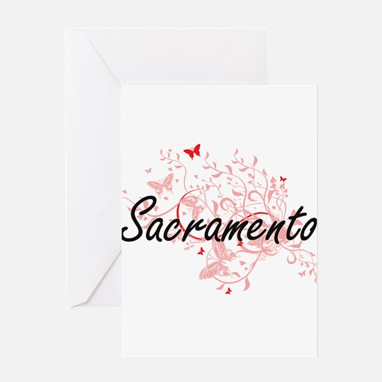Sacramento California City Artistic Greeting Cards