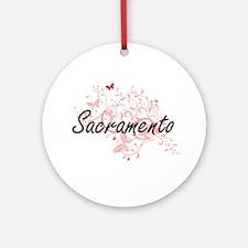 Sacramento California City Artistic Round Ornament