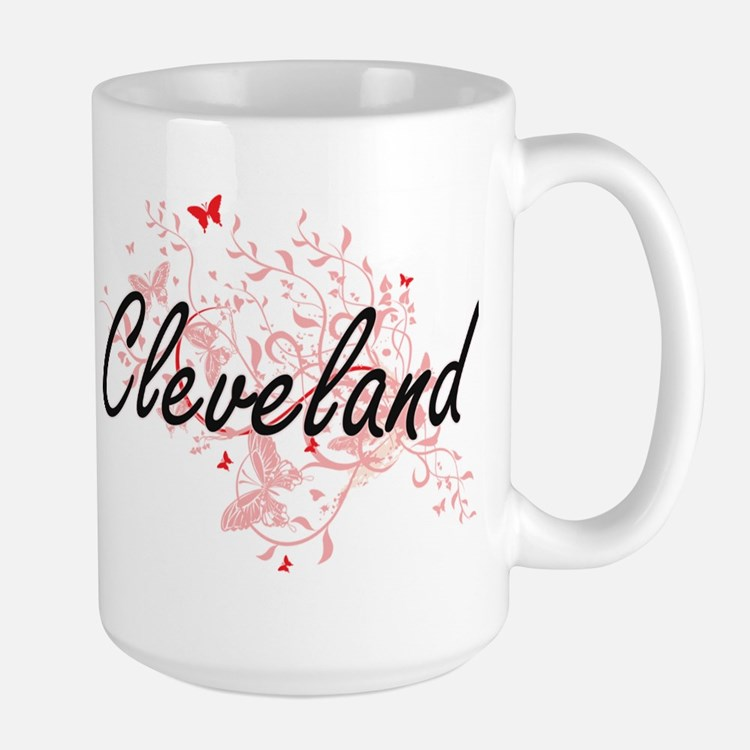 Cleveland Ohio City Artistic design with butt Mugs