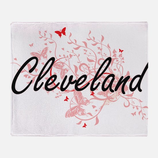 Cleveland Ohio City Artistic design Throw Blanket