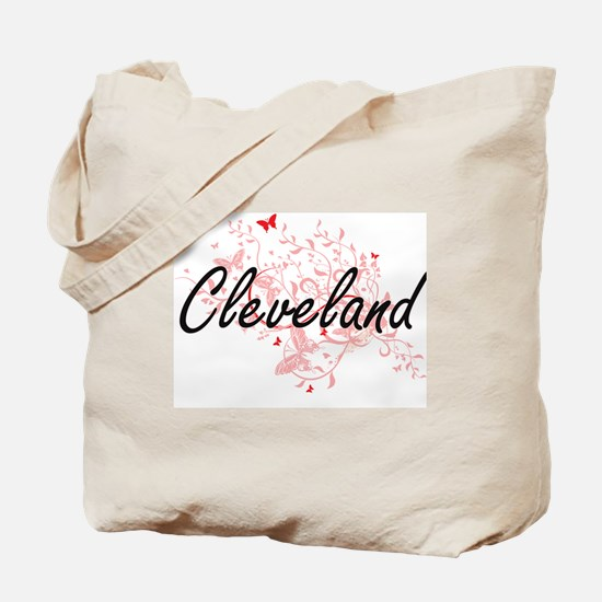 Cleveland Ohio City Artistic design with Tote Bag