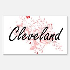 Cleveland Ohio City Artistic design with b Decal