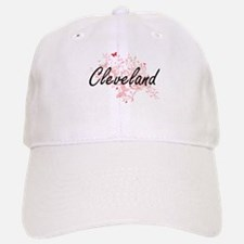Cleveland Ohio City Artistic design with butte Baseball Baseball Cap
