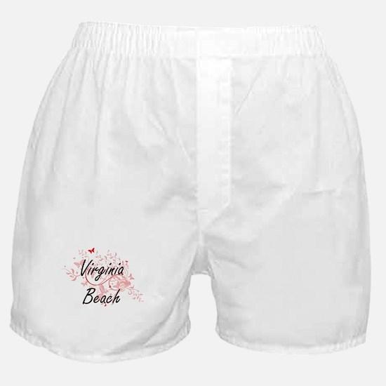 Virginia Beach Virginia City Artistic Boxer Shorts