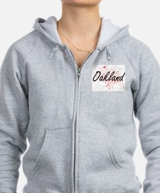 Oakland California City Artisti Zip Hoodie