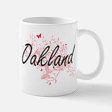 Oakland California City Artistic design with Mugs