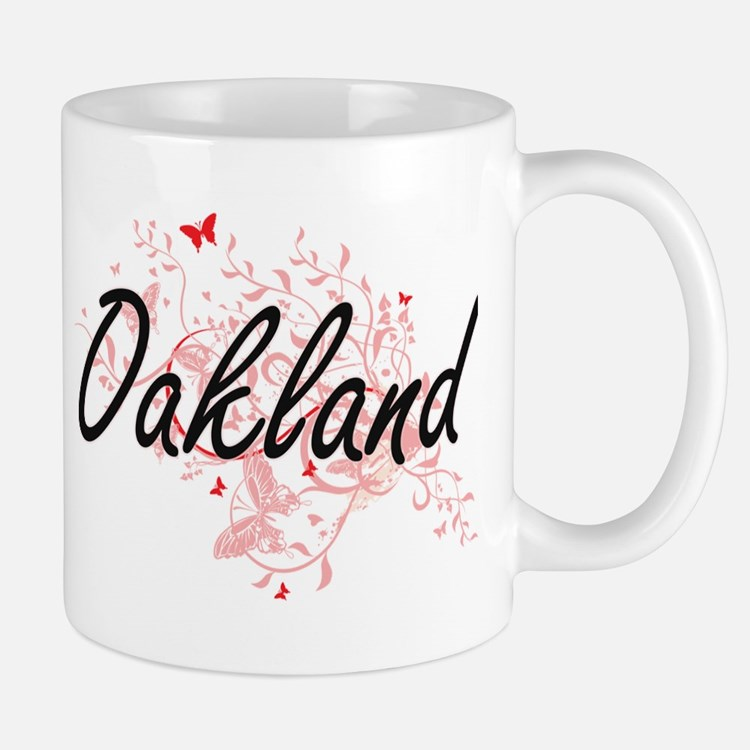 Oakland California City Artistic design with Mugs