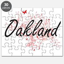 Oakland California City Artistic design wit Puzzle