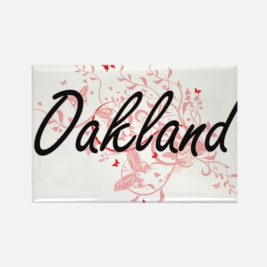 Oakland California City Artistic design wi Magnets