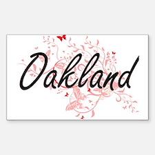 Oakland California City Artistic design wi Decal