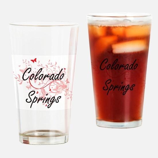 Colorado Springs Colorado City Arti Drinking Glass