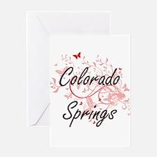 Colorado Springs Colorado City Arti Greeting Cards