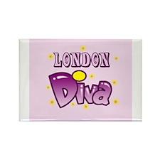 London Diva Rectangle Magnet