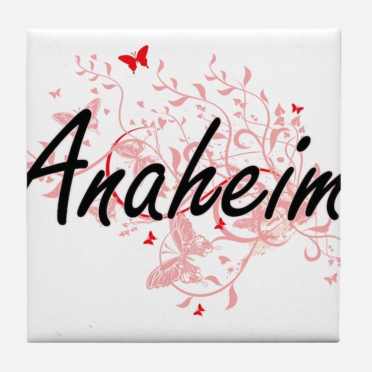 Anaheim California City Artistic desi Tile Coaster