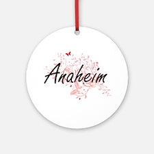 Anaheim California City Artistic de Round Ornament