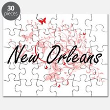 New Orleans Louisiana City Artistic design Puzzle