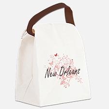 New Orleans Louisiana City Artist Canvas Lunch Bag